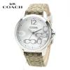 นาฬิกาผู้หญิง Coach Classic 14501620 Signature Khaki Jacquard Glitz