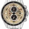 นาฬิกาข้อมือผู้ชาย Citizen Eco-Drive รุ่น CA0348-53W, Super Titanium 100m Sapphire Chronograph