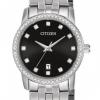 นาฬิกาผู้หญิง Citizen รุ่น EU6030-56E, Swarovski Stainless Steel Black Women's Watch