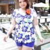 ชุดว่ายน้ำไซส์ใหญ่พร้อมส่ง :ชุดว่ายน้ำแฟชั่นสีน้ำเงินขาวลายดอกไม้สดใส กางเกงขาสั้นใส่ด้านในน่ารักมากๆจ้า:รอบอก38-48นิ้ว เอว38-46นิ้ว สะโพก40-50นิ้วจ้า