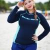 ชุดว่ายน้ำคนอ้วน แบบสปอร์ตพร้อมส่ง :ชุดว่ายน้ำไซส์ใหญ่สีน้ำเงินกรมแขนยาวแต่งลายอักษร set 4 ชิ้น มีเสื้อแขนยาว บรา บิกินี่ กางเกงขาสั้น แบบสวยน่ารักมากๆจ้า:รายละะเอียดไซส์คลิกเลยจ้า
