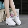 รองเท้าผ้าใบมัฟฟินพื้นหนา 12 cm