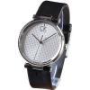 นาฬิกาข้อมือผู้หญิง Calvin Klein รุ่น K1s21120, Ck Black Leather White Dial Swiss Watch