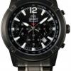 นาฬิกาข้อมือผู้ชาย Orient รุ่น STW01001B0, SP Quartz Chronograph Black