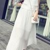 เสื้อผ้าแฟชั่นผู้หญิงพร้อมส่ง : เดรสสีขาวแฟชั่น กระโปรงพริ้วๆ น่ารัก น่ารักจ้า