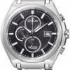 นาฬิกาข้อมือผู้ชาย Citizen Eco-Drive รุ่น CA0351-59E, Super Titanium 100m Sapphire Chronograph