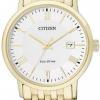 นาฬิกาข้อมือผู้ชาย Citizen Eco-Drive รุ่น BM6772-56A Sapphire Gold Tone Elegant Watch