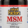 Natural Factors MSM 1000 mg 180 Capsules