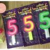 เทียนตัวเลข เทียนเค้กวันเกิด เลข5
