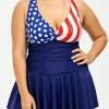 ชุดว่ายน้ำคนอ้วน พร้อมส่ง :ชุดว่ายน้ำไซส์ใหญ่สีน้ำเงินแต่งลายธงชาติและสายไขว้ด้านหลัง มีกางเกงขาสั้นใส่ด้านในแบบสวย sexyมากๆจ้า:รอบอก44-54นิ้ว เอว42-52นิ้ว สะโพก46-60นิ้ว