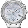 นาฬิกาข้อมือผู้หญิง Citizen Eco-Drive รุ่น FB1320-59A, Chronograph Swarovski Sapphire Japan