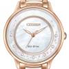 นาฬิกาข้อมือผู้หญิง Citizen Eco-Drive รุ่น EM0382-51D, L Circle Of Time Diamond Sapphire Elegant Watch