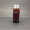 SB120 ml สีชา+จุกตัน+ฝาเกลียวสีเงิน แพคละ 10 ชิ้น