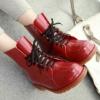 (พร้อมส่ง) รองเท้าบูทผูกเชือกหุ้มข้อแฟชั่น
