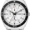 นาฬิกาข้อมือผู้ชาย Citizen Eco-Drive รุ่น AP4010-54A, White Multi Dial 100m Sports Watch