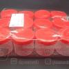 กระปุกน้ำพริกฝาแดง กลาง BN 022 แพคละ 12 ชิ้น