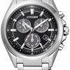 นาฬิกาผู้ชาย Citizen Eco-Drive รุ่น BL5530-57E, Attesa Titanium Sapphire Chronograph
