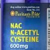 Puritan's Pride N-Acetyl Cysteine (NAC) 600 mg 60 Capsules