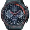 นาฬิกาข้อมือผู้ชาย Citizen Eco-Drive รุ่น CA4125-56E, 100m Black & Orange Chronograph