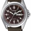 นาฬิกาผู้ชาย Citizen รุ่น AW0050-40W, Eco-Drive 100m Canvas Watch