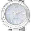 นาฬิกาข้อมือผู้หญิง Citizen Eco-Drive รุ่น EM0331-52D, Mother Of Pearl Sapphire Elegant
