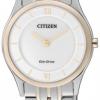 นาฬิกาข้อมือผู้หญิง Citizen Eco-Drive รุ่น EG3224-57A, Stiletto Japan Sapphire Elegant Ultra Thin Dual Tone