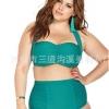 ชุดว่ายน้ำคนอ้วนพร้อมส่ง :ชุดว่ายน้ำคนอ้วนแฟชั่นทูพีชสีเขียวหยก แต่งสายผูกโบว์ที่คอ สีสดใส sexyมากๆจ้า:รอบอก34-42นิ้ว เอว30-38นิ้ว สะโพก36-44นิ้วจ้า