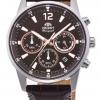 นาฬิกาผู้ชาย Orient รุ่น RA-KV0006Y00C, Sports Chronograph Quartz Leather Strap Japan Made Men's Watch