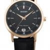 นาฬิกาผู้หญิง Orient รุ่น FUNG6001B, Quartz Rose Gold Leather Strap Women's Watch