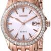 นาฬิกาข้อมือผู้หญิง Citizen Eco-Drive รุ่น EW1903-52A, Swarovski Crystal Silhouette Rose Gold