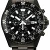 นาฬิกาข้อมือผู้ชาย Orient รุ่น STT11001B0, Captain Quartz Chronograph Black IP 200m Divers Sports
