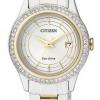 นาฬิกาผู้หญิง Citizen รุ่น FE1124-82A, Eco-Drive Swarovski Crystal