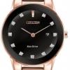 นาฬิกาข้อมือผู้หญิง Citizen Eco-Drive รุ่น GA1058-59Q, Axiom Rose Gold Ladies Diamond Watch