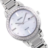 นาฬิกาผู้หญิง Seiko รุ่น SUT327P1, Solar Mother of Pearl Dial Diamond Accent