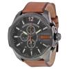 นาฬิกาผู้ชาย Diesel รุ่น DZ4343, Mega Chief Black Dial Brown Leather Men's Watch