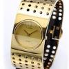นาฬิกาข้อมือผู้หญิง Calvin Klein รุ่น K8322209, Bangle Sapphire Analog Grid Collection Gold Tone Swiss Watch