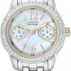 นาฬิกาข้อมือผู้หญิง Citizen Eco-Drive รุ่น FD1034-55D, Silhouette Swarovski Elegant Watch