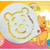 แผ่นโรยผงโกโก้ Stencils ตกแต่งหน้ากาแฟ ตกแต่งหน้าเค้ก ลายหมีพูห์ pooh