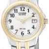 นาฬิกาข้อมือผู้หญิง Citizen Eco-Drive รุ่น EW1544-53A, Silhouette Dual Tone Easy To Read 100m Ladies Elegant Watch