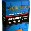 ลูกปิงปอง KING STAR 3 ดาว 1x6