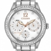 นาฬิกาข้อมือผู้หญิง Citizen Eco-Drive รุ่น FD2010-58A, Silhouette Swarovski Crystal Elegant