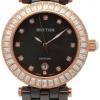 นาฬิกาผู้หญิง Rhythm รุ่น C1104C05, Sapphire Black Ceramic Swarovski C1104C-05, C1104C 05