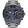 นาฬิกาผู้ชาย Diesel รุ่น DZ4329, Mega Chief Chronograph Blue Dial 100M