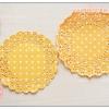กระดาษลูกไม้ กระดาษดอลลี่ กระดาษรองก้นถุง ลายจุด สีส้ม