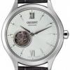 นาฬิกาข้อมือผู้หญิง Orient รุ่น SDB0A005W0, Open Heart Semi Skeleton Automatic Elegant Leather
