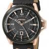 นาฬิกาผู้ชาย Diesel รุ่น DZ1754, Rollcage Rose Gold Plated Black Leather Strap Watch