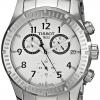 นาฬิกาผู้ชาย Tissot รุ่น T0394171103700, V8 Chronograph Silver Dial Stainless Steel
