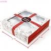 กล่องขนมเปี๊ยะ 5 ชิ้น ลายเค้ก พื้นขาว