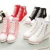 รองเท้าผ้าใบส้นสูงซิปข้าง ไซต์ 35-43