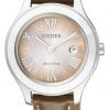 นาฬิกาข้อมือผู้หญิง Citizen Eco-Drive รุ่น FE1040-48W, Brown Leather 50m Watch